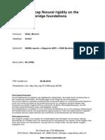 Pile cap finite element modelling