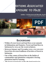 Eyes Condition Associated With Exposure to Haze