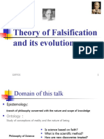 Theory of Falsification and Its Evolution