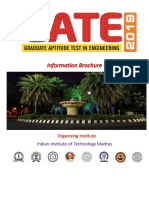 GATE 2019 Information Brochure