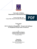Turjo Mazumder Term paper On LDC Graduation of Bangladesh – Prospect, and challenges for Bangladesh foreign trades & businesses