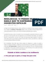 Resiliencia - 10 frases de Frida Kahlo
