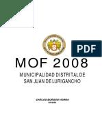 ROF REGLAMENTO DE ORGANIZACIÓN Y FUNCIÓN DE LA MDSJL