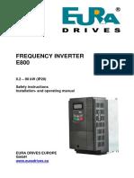 Eura Drives e800_en Frequency inverter