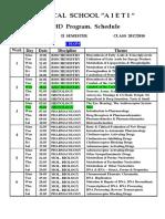 Schedule-17-18 - II Semester 12.01.2018-Eqvsive Kursi