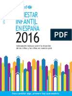 Indicadores de Bienestar Infantil 2016