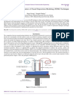 Analysis of Process Parameters of Fused Deposition Modeling (FDM) Technique