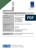 Eta-120114 Spax Screws