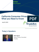 California Consumer Privacy Act Insights Seris | TrustArc