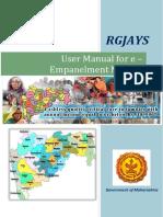 RGJAY User Manual for e Empanelment Module v1.0