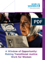 A Window of Opportunity? Making Transitional Justice Work for Women