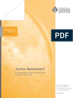 Justice Abondoned? An Assessment of the Serious Crimes Process in East Timor