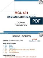 lectures for cam and automation