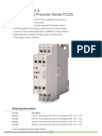 PTC Thermistor and Single Phasing Preventer Series PD 225 | GIC India