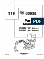 Bobcat 316 Excavator Parts Catalogue Manual SN 522811001 & Above.pdf