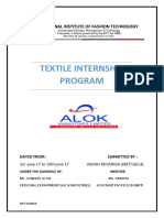 Textile Internship alok industries