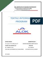 Textile Internship alok industries