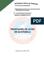 Prontuario de Leyes de Guatemala Trabajo Final