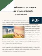 Cambio Climático y Los Efectos en La Industria de La Construcción