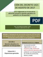 Presentación Del Decreto 1421 Del 29 de Agosto
