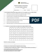 Prueba de Lenguaje Textos Instructivos