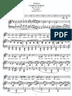 Brahms - Unüberwindlich Op 72 No 5