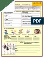 Present Continuous 1 Grammar Drills Picture Description Exercises Writi 78992