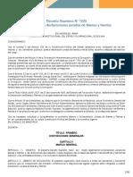 Decreto Supremo N 1233 Del 16-05-2012 Que Reglamenta La DJBR