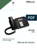 Manual Telefono NETCOM Neris Ofice 25