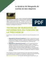 Principales Técnicas de Búsqueda de Información en Una Empresa