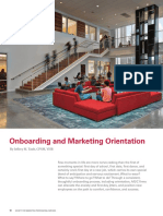 Onboarding and Marketing Orientation