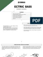 BASS SETUP - Yamaha Bass_manual