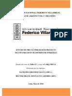 Estudio de Prefactibilidad de multifamiliar en Surquillo.