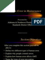 Human Error in Maintenance