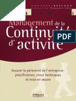 Management de La Continuité d'Activité - Assurer La Pérennité de l'Entreprise
