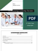 15 Devastating Leadership Derailers