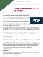 Mahindra Epc to Mahindra Susten