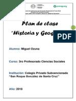 Planeamiento de clase-Historia y Geografía