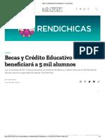 27-07-18-Tribuna-Becas y Crédito Educativo beneficiará a 5 mil alumnos