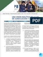 Vision analitica de la Conciliacion en Bolivia
