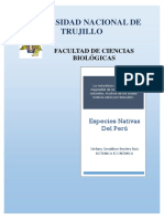 Especies Nativas Del Perú