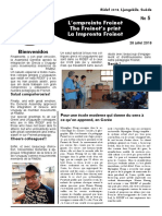 """Freinet's Print"" Official Newspaper for the 2018 Ljungskile RIDEF"