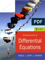 Fundamentals of Differential Equations (Nagle, Saff, Snider)