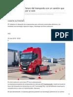 ZF se adelanta al futuro del transporte con un camión que carga y descarga por sí solo
