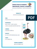 Producción de Avestruz en Ecuador