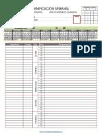 Planificador Semanal Primaria Programaciones 7 Horas 2018 2019