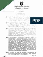 Ley Orgánica del Servicio Público aprobada por el pleno asamblea