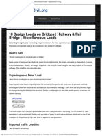 10 Design Loads on Bridges _ Highway & Rail Bridge _ Miscellaneous Loads - E
