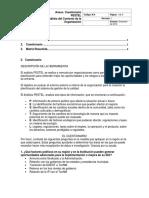 Ejemplo 1. Cuestionario PESTEL. Para La Evaluación Del Contexto de La Organización