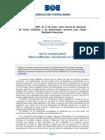 BOE-Orden ECO-805-2003 Texto Consolidado - Última Modificación 2 de Dic de 2015